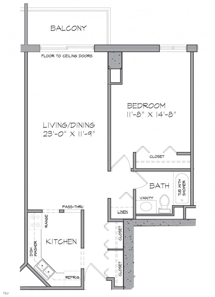One Bedroom E/F