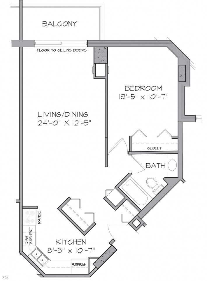 One Bedroom D/G